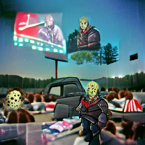 Hockey Mask at the Drive-in Theatre