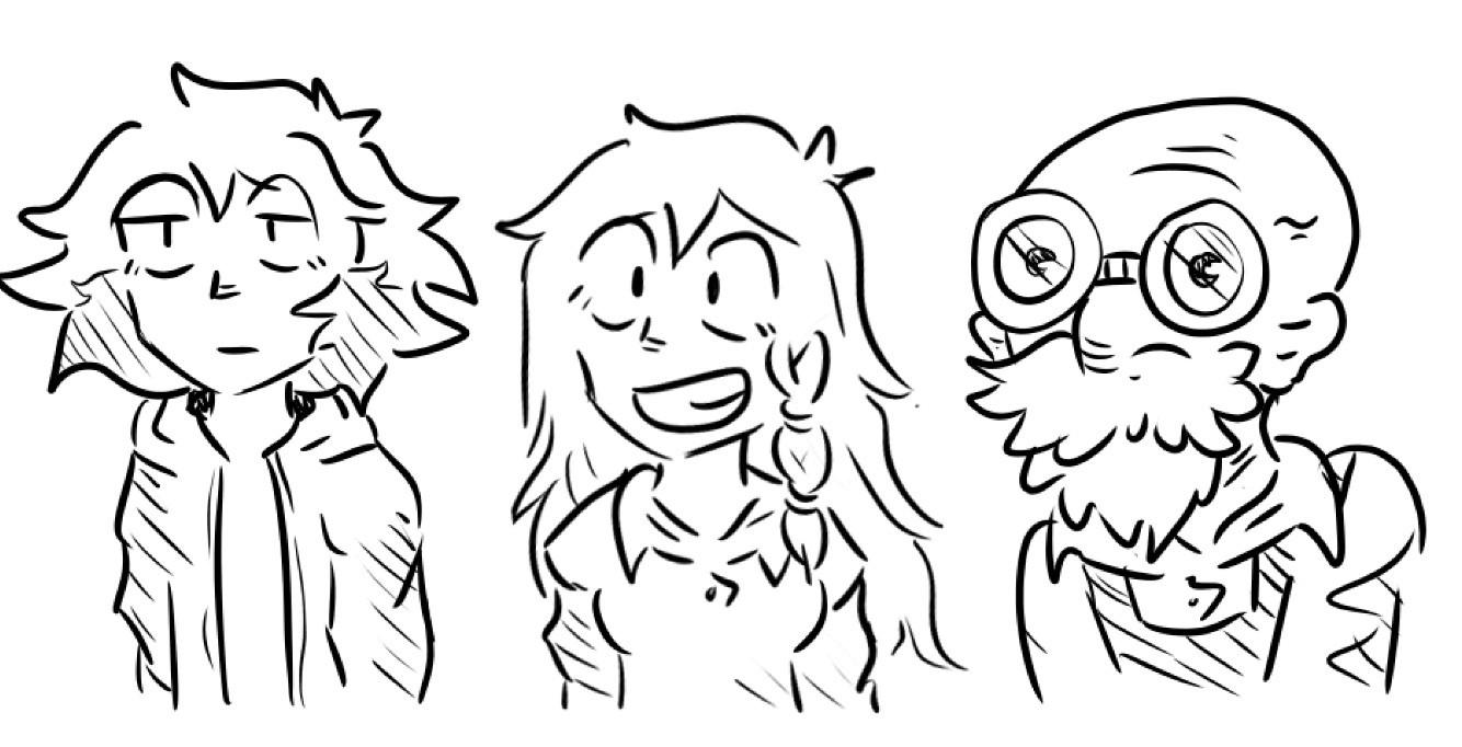Kai, Trish & Paul headcanon designs