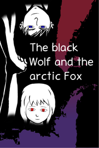 The black wolf and the arctic fox