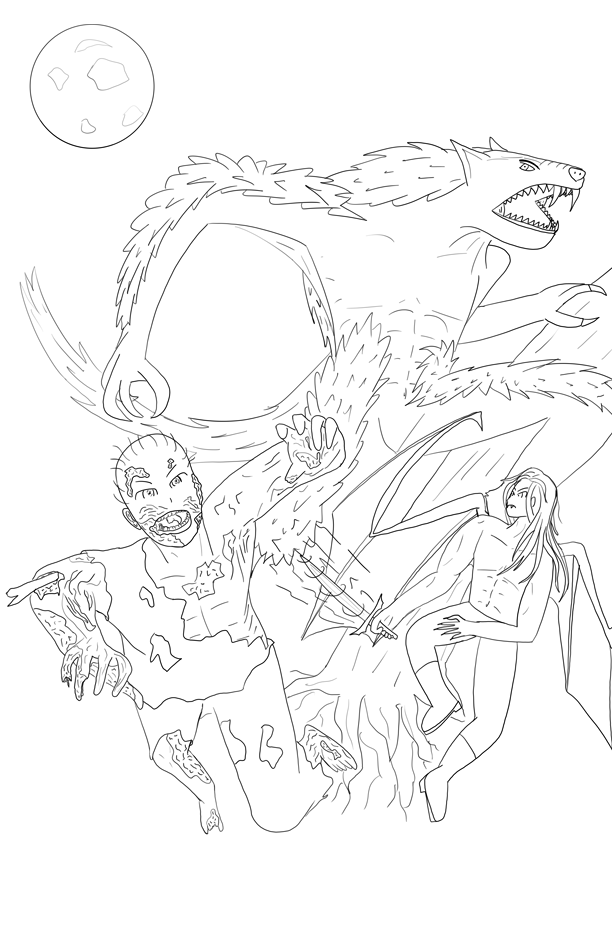 The Aliens They Summoned - Temporary Cover (Lineart)